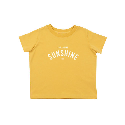 Custard short sleeved 'YOU ARE MY SUNSHINE' T-shirt