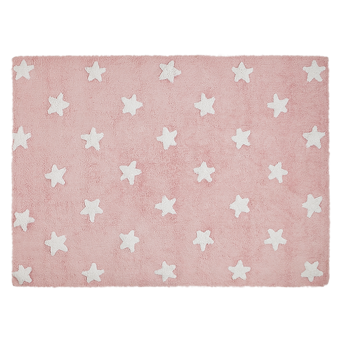 Lorena Canals Washable Rug Stars Pink-White