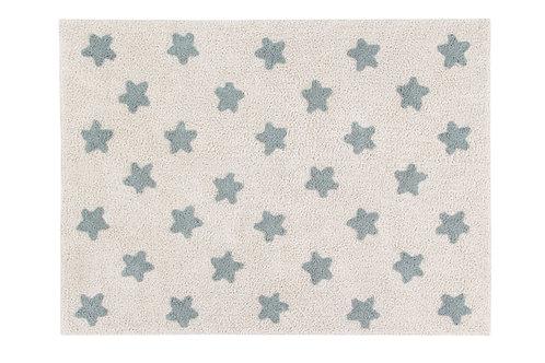 Lorena Canals Washable Rug Stars Natural-Vintage Blue