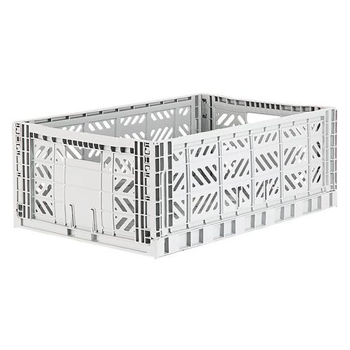 Aykasa Maxi Folding Crate in Light Grey