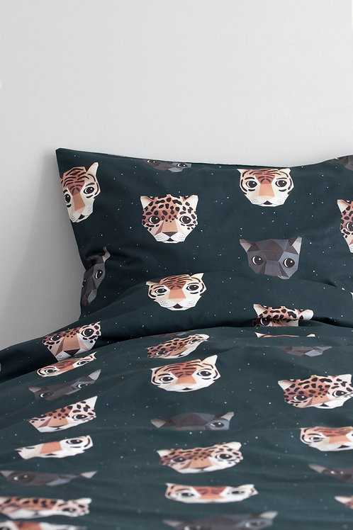 Panthera duvet cover dark 140 x 220 cm