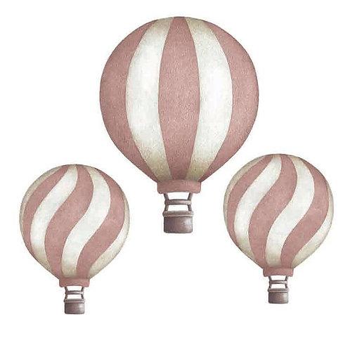 Dark Pink Vintage Balloon Set