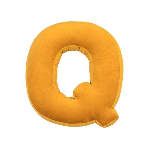 Velvet Letter Q Mustard