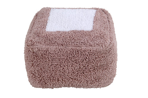 Lorena Canals Pouffe Marshmallow Square Vintage Nude