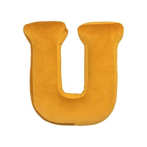 Velvet Letter U Mustard