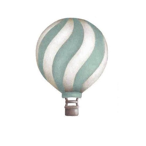 Dark Mint Wavey Vintage Balloon Wall Sticker