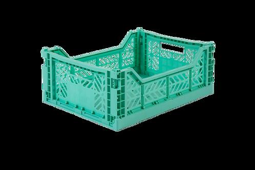 Aykasa Midi Foldable Crate in Mint