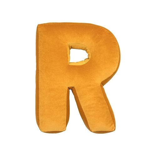 Velvet Letter R Mustard