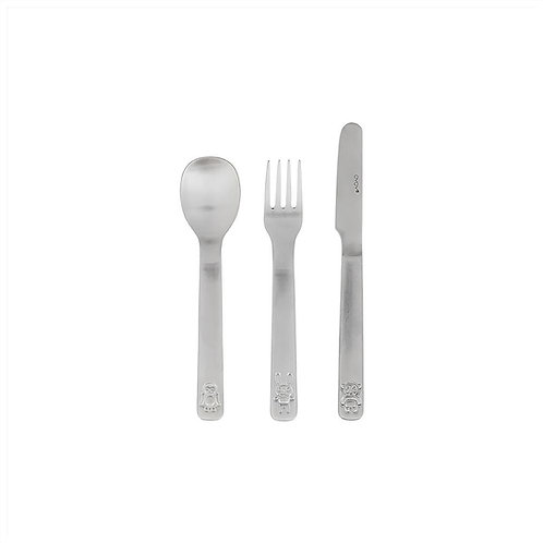 Cutlery- We Love Animals - Set of 3 - Brushed Steel