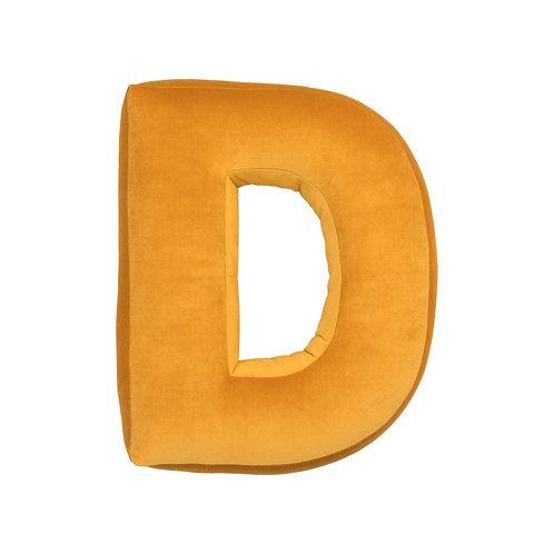 Velvet Letter D Mustard