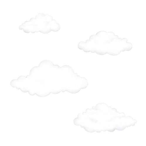 White Clouds reusable Wall Stickers