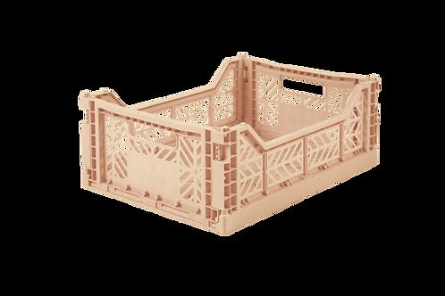 Aykasa Midi Foldable Crate in Milk Tea