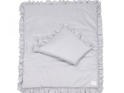Simply Glamour with Ruffles - Filled - Grey 80x100cm