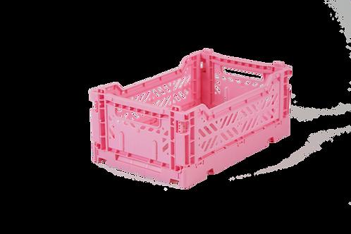 Aykasa Mini Foldable Crate in Baby Pink