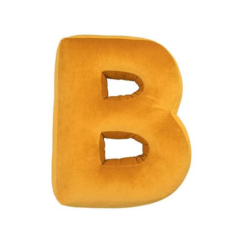 Velvet Letter B Mustard