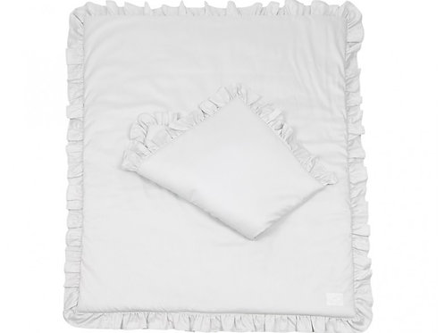 Simply Glamour with Ruffles - Filled - Light Grey 80x100cm
