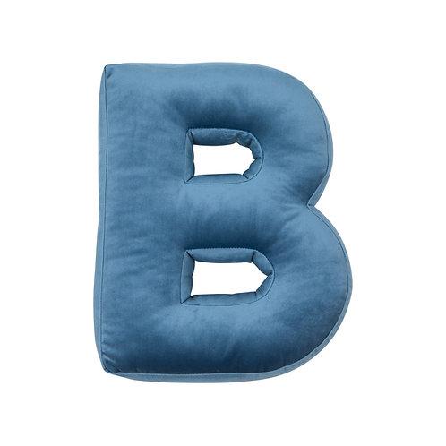 Velvet Letter B Cushion