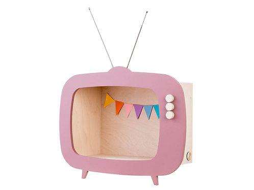 Up! Warsaw Kids TV Wooden Shelf - Dusty Pink