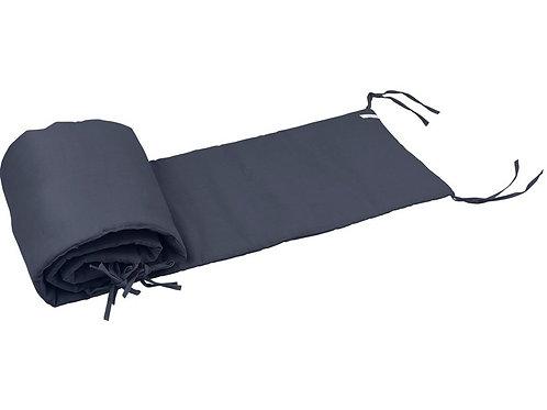 Crib Protector Pure Nature Short - Graphite 30x190cm