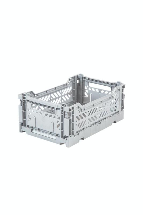 Aykasa Mini Foldable Crate in Light Grey