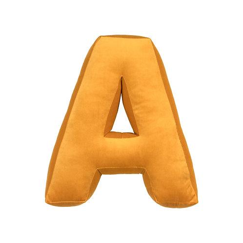 Velvet Letter A Mustard