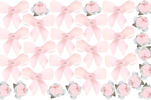 Extra Sheet - Bows & Roses