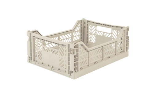 Aykasa Midi Foldable Crate in Coconut Milk