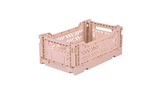 Aykasa Mini Foldable Crate in Milk Tea