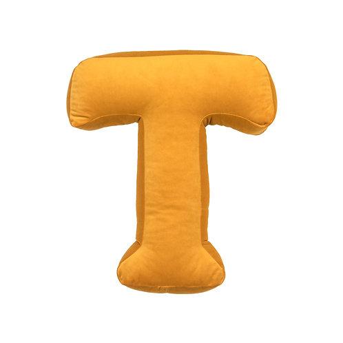 Velvet Letter T Mustard