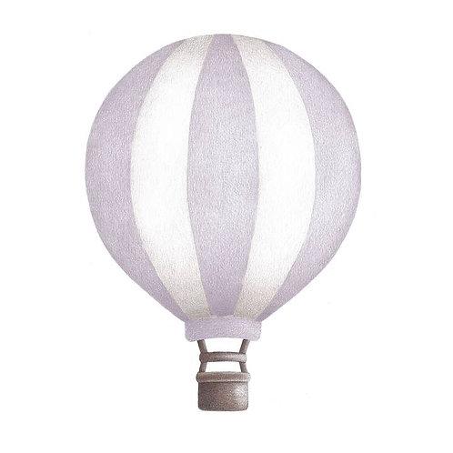 Dusty Lavendar Striped Vintage Balloon