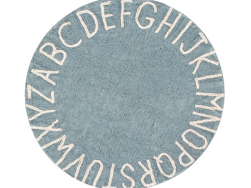 Lorena Canals Washable Rug Round ABC Blue-Natural