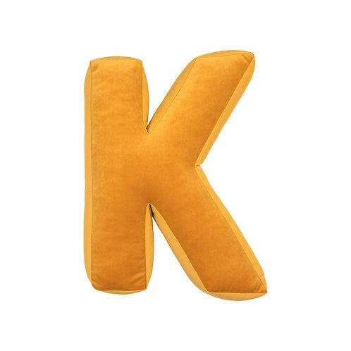 Velvet Letter K Mustard
