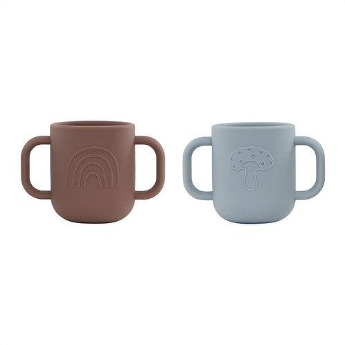 Kappu Cup - Pack of 2 - Dusty Blue / Choko