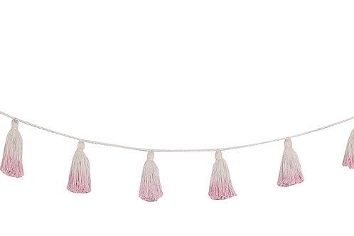 Lorena Canals Pom Pom Garland Tie-Dye Pink