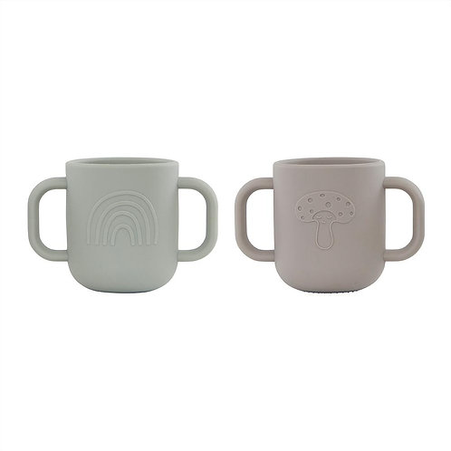 Kappu Cup - Pack of 2 - Clay / Pale Mint
