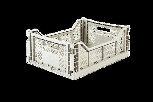 Aykasa Midi Foldable Crate in Light Grey