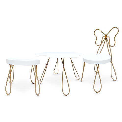 Butterfly chair + clip table + clip stool SET