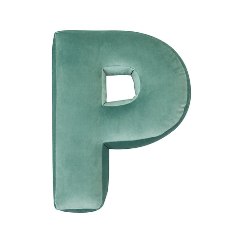Velvet Letter P Mint
