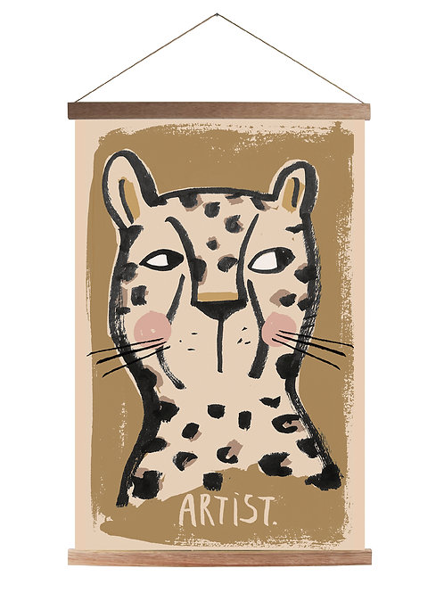 Studioloco Canvas School Poster with Wooden Magnetic Frame - Leo