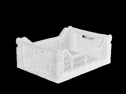 Aykasa Midi Foldable Crate in White