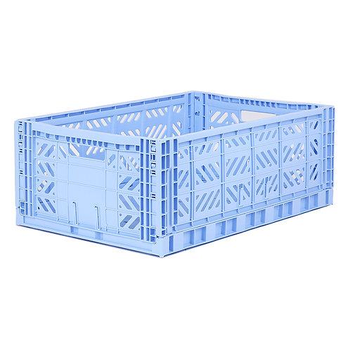 Aykasa Maxi Folding Crate in Baby Blue