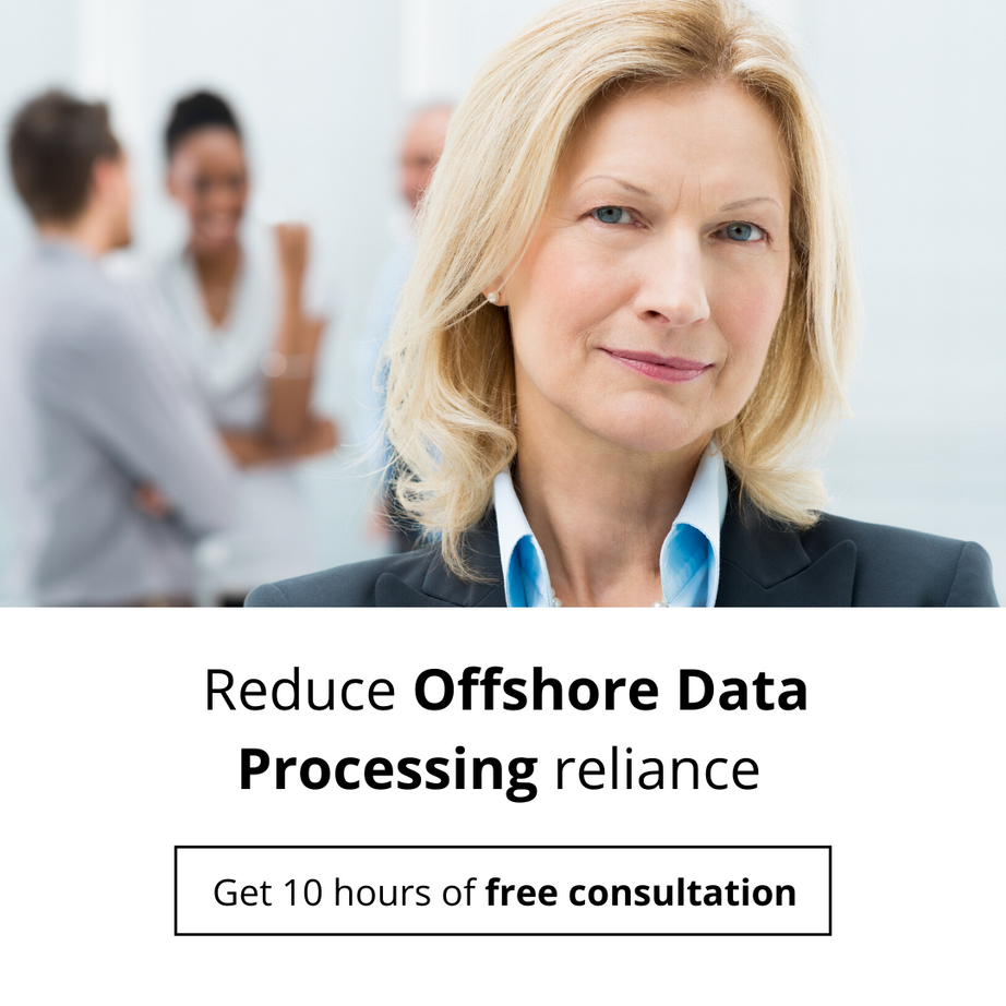 Reduce Offshore Data Processing reliance