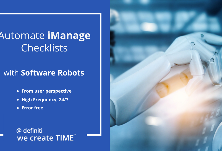 Automate iManage Checklists