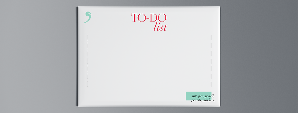 Notepad To-Do Pink List