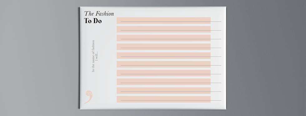 Notepad Fashion To-Do