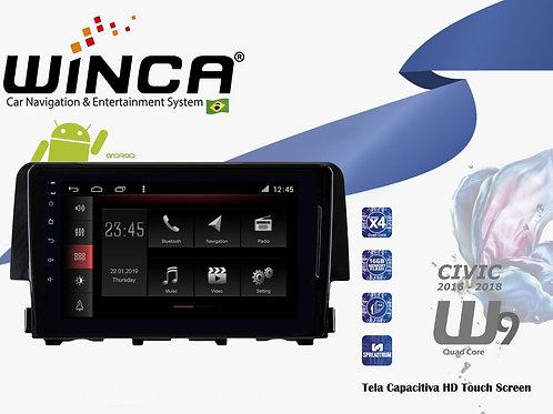 Central Multimidia Honda Civic Winca W9