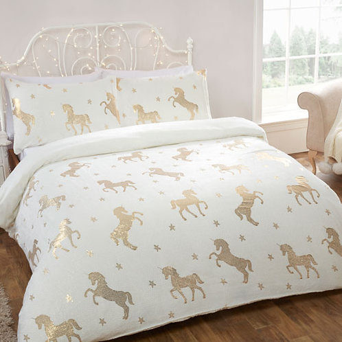 Unicorn Duvet Set - Cream & Gold