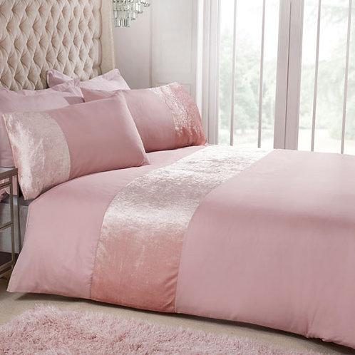 Luxury Velvet Duvet Set - Pink