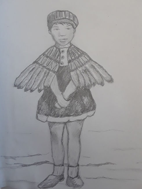 Winged Girl. Sketchbook Project Vol. 14