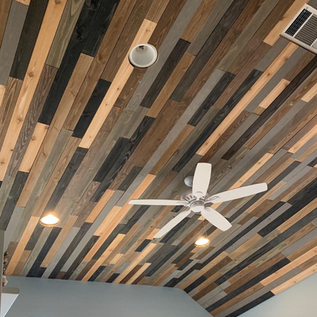 """Harry Potter"" themed rustic wood ceiling"